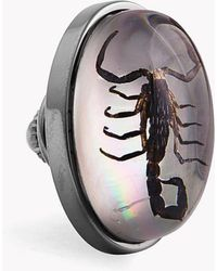 Tateossian - Scorpion Pin In Resin On White Mother Of Pearl - Lyst