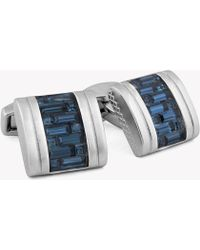 Tateossian - Interlock D-shape Belgravia Cufflinks - Lyst