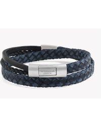 Tateossian - Cobra Doppio Silver Bracelet In Navy - Lyst