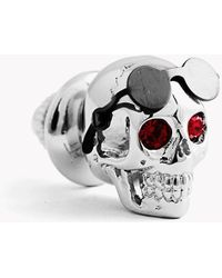 Tateossian - Aviator Skull Pin With Gunmetal Sunglasses - Lyst