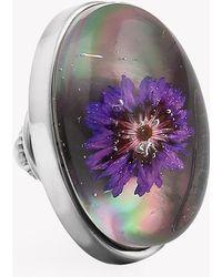 Tateossian - Purple Thistle Pin - Lyst