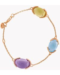 Tateossian - 18k Rose Gold Mayfair Multi Stone Bracelet - Lyst