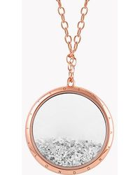 Tateossian - Diamond Dust Silver Necklace With Rose Gold Finish - Lyst