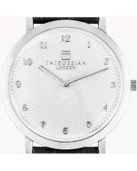 Tateossian | Rotondo Guilloché Ultra Slim Watch | Lyst