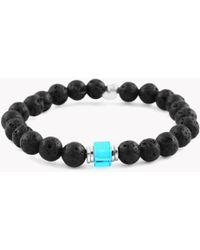 Tateossian - Matte Bead Bracelet In Blue & Lava - Lyst