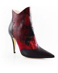 Terry De Havilland - Zia Ankle Boot Red - Lyst