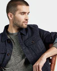 Ted Baker Textured Front Sweatshirt - Gray