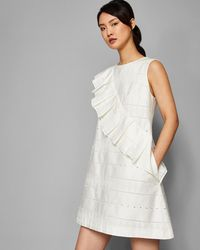 Ted Baker - Oversized Ruffle A-line Cotton Dress - Lyst