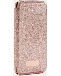 Ted Baker Glitter Iphone 6/6s/7/8 Book Case - Pink