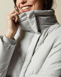 Ted Baker Wrap Padded Jacket - Grey