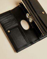 Ted Baker Alyysaa Bobble Matinee Leather Purse - Black