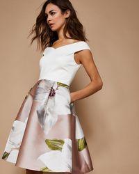 Ted Baker - Valtia Off-the-shoulder Dress - Lyst