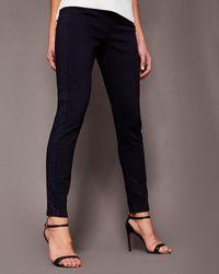 Ted Baker - Embellished Panel Skinny Jeans - Lyst
