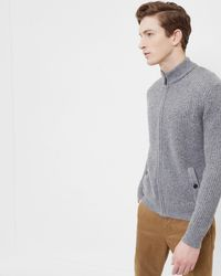 Ted Baker - Knitted Funnel Neck Jumper - Lyst