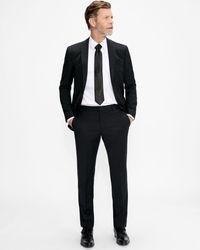 Ted Baker Slim Fit Plain Suit Trouser - Black