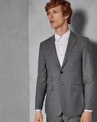 Ted Baker Sterling Semi Plain Suit Jacket - Gris