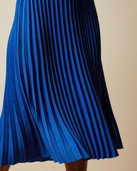 Ted Baker Asymmetrisches Midikleid Aus Strick - Blau