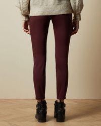 Ted Baker Halbhohe Skinny-jeans - Braun