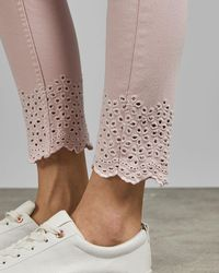 Ted Baker Embroidered Jeans - Pink