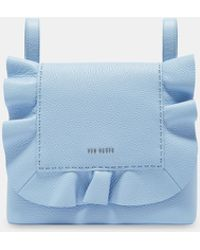 Ted Baker Leather Ruffle Multiway Backpack - Blue