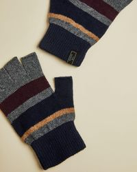 Ted Baker Rib Detail Knitted Glove - Red