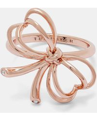 Ted Baker - Small Heart Bow Ring - Lyst