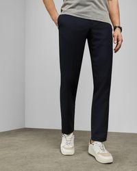 Ted Baker Pantalones Slim Fit Con Textura - Azul