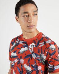 Ted Baker - Tropical Print T-shirt - Lyst