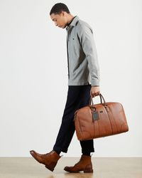 Ted Baker Textured Holdall - Brown