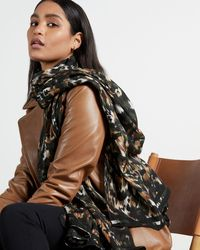 Ted Baker Urban Long Woven Scarf - Green