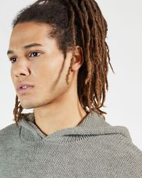 Ted Baker Hooded Knitted Sweater - Gray