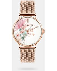 Ted Baker - Bkpphs124 Phylipa Serendipity Mesh Watch - Lyst
