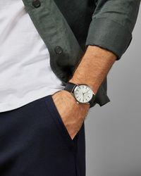 Ted Baker - Montre Avec Bracelet En Cuir Grainé - Lyst
