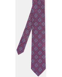 Ted Baker Tile Print Silk Tie - Purple