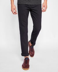 Ted Baker - Slim Fit Textured Trousers - Lyst