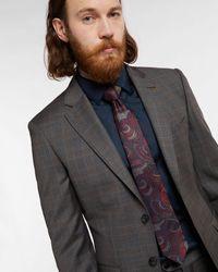 Ted Baker Jacquard Paisley Tie - Blau