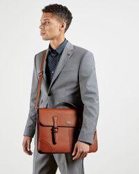 Ted Baker Pebbled Woven Satchel Bag - Brown