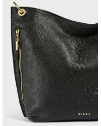 Ted Baker Soft Leather Hobo Bag - Schwarz