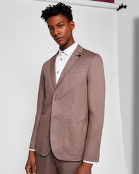 Ted Baker - Piece-dyed Cotton Blazer - Lyst
