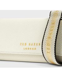 Ted Baker Purse With Branded Webbing Strap - White