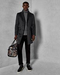 Ted Baker Cashmere Overcoat - Gray