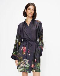 Ted Baker 289991 Floral Robe - Black