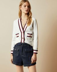 Ted Baker Ribbed Cardigan - White