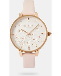 Ted Baker - Floral Dial Watch - Lyst