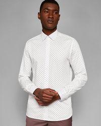 Ted Baker - Polka Dot Phormal Cotton Shirt - Lyst