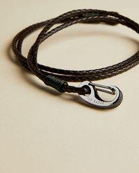 Ted Baker Woven Leather Bracelet - Multicolor