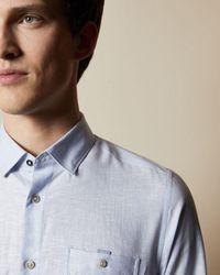 Ted Baker Linen Shirt - Blue