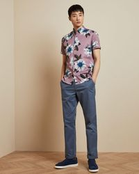 Ted Baker Classic Fit Chinos - Blue