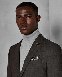 Ted Baker - Checked Wool Suit Jacket - Lyst