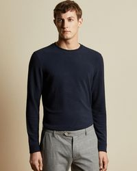 Ted Baker - Long Sleeved Ribbed Sweater - Lyst
